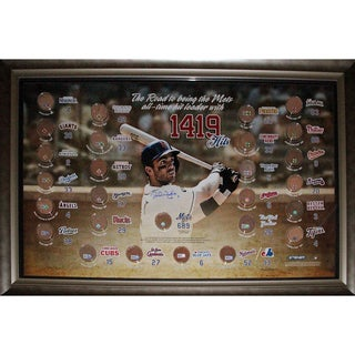 David Wright Framed New York Mets All Time Hits Leader w/ Hit Totals vs Each Team Signed 20x32 Collage (MLB AUTH)