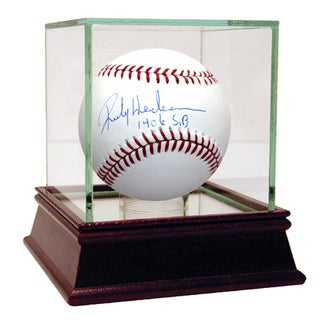 "Rickey Henderson MLB Baseball w/""1406 S.B""Insc."