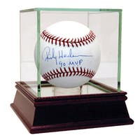 "Rickey Henderson MLB Baseball w/ ""90 MVP"" Insc."
