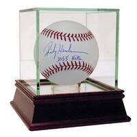 """Rickey Henderson MLB Baseball w/ """"3055 Hits"""" Insc. (MLB Auth)"""