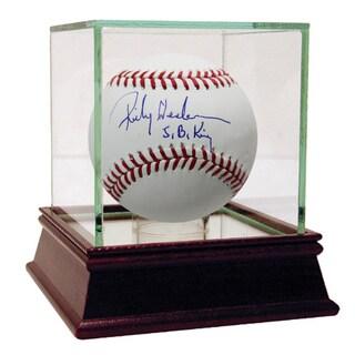 "Rickey Henderson Signed MLB Baseball w/ ""S.B King ""Insc."