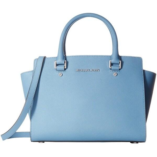 Shop Michael Kors Selma Medium Saffiano Top Zip Satchel Handbag ... 8735c01c01