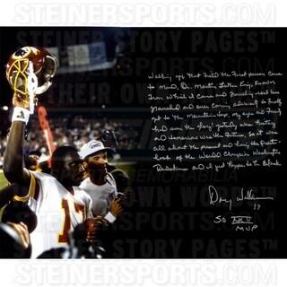 Doug Williams Signed Super Bowl 16x20 Story Photo