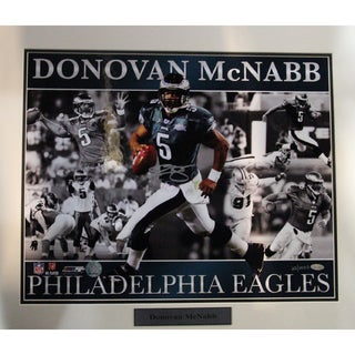 Donovan McNabb Eagles with Ghosting Matted 16x20 Collage Photo (LE/2000)