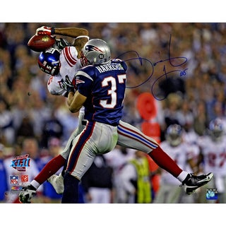 David Tyree Signed SuperBowl XLII Catch Against Patriots Horizontal 16x20 Photo