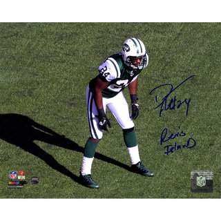 "Darrelle Revis Signed Jets Stance 8x10 Photo with ""Revis Island"" Insc."