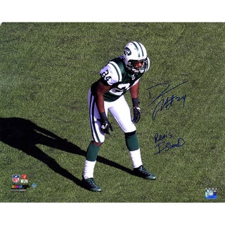 "Darrelle Revis Signed Jets Stance 16x20 Photo with ""Revis Island"" Insc."