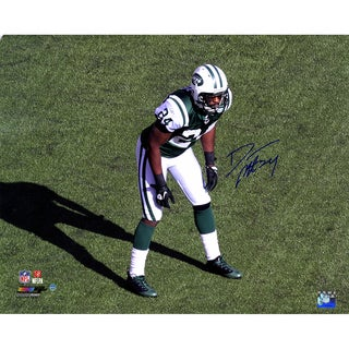 Darrelle Revis Signed Jets Stance 16x20 Photo