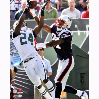 Darrelle Revis Interception vs Randy Moss of The New England Patriots Vertical 16x20 Photo