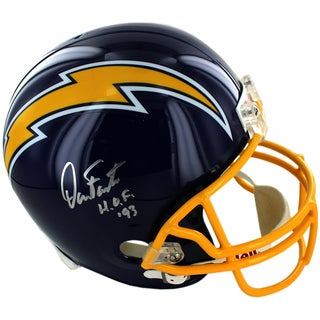 Dan Fouts Signed San Diego Chargers Replica Throwback 74-87Helmet w/HOF 93 Inscription
