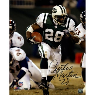 Curtis Martin Signed Run vs. Broncos 16x20 Photo