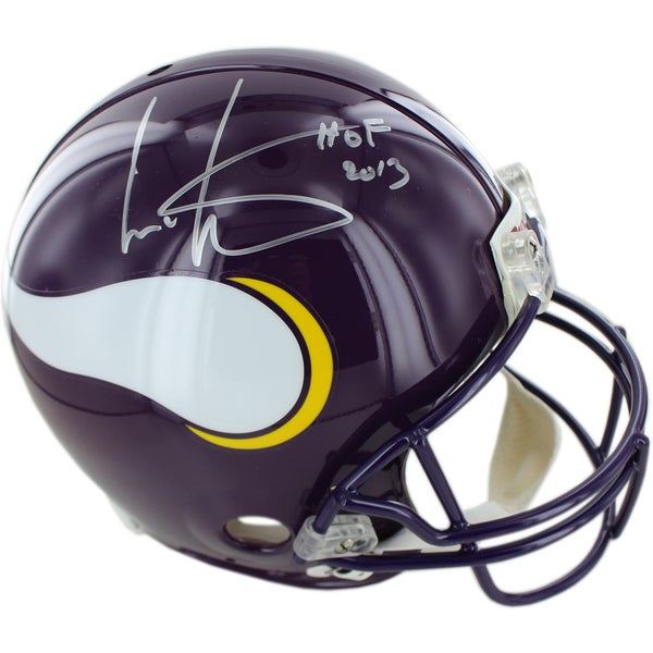 Cris Carter Vikings Signed Proline Helmet w/ HOF Inscription