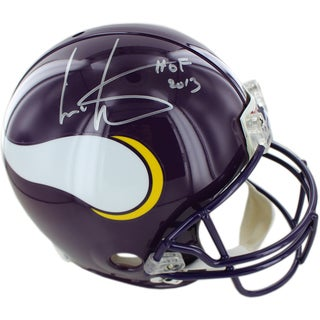 Cris Carter Vikings Signed Proline Helmet w/ HOF Inscription