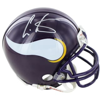 Cris Carter Vikings Signed Mini Helmets