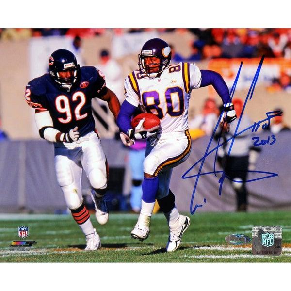 Cris Carter Signed Running vs Bears Defender 16x20 Photo w/ HOF Insc.