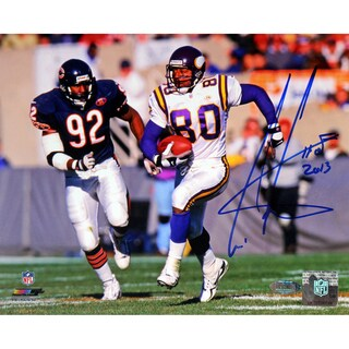 Cris Carter Running vs. Bears Defender 8x10 Photo