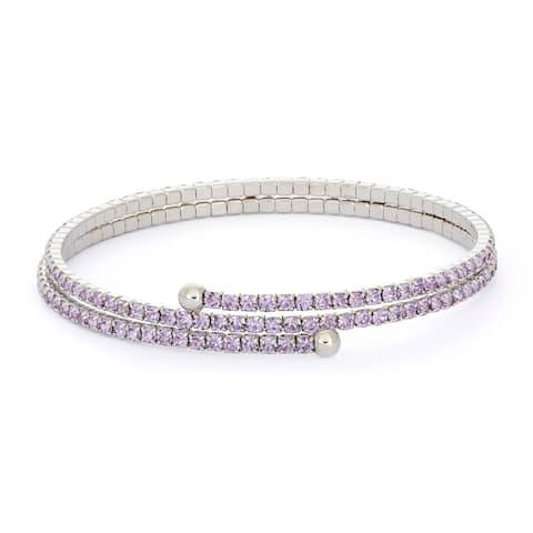 Women's Isla Simone Rhodium Plated Crystal Bracelet