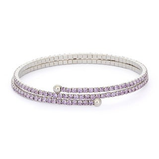 Women's Isla Simone Rhodium Plated Crystal Bracelet