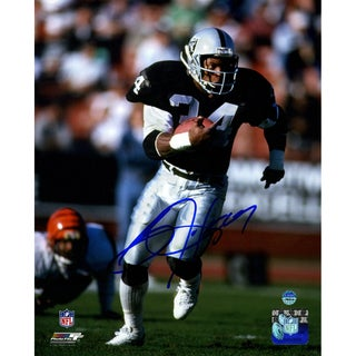 Bo Jackson Signed Up Close Running Vertical 8x10 Photo