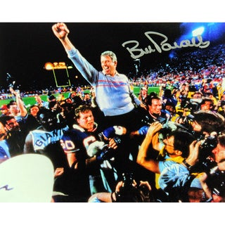Bill Parcells Signed Carry Off Blue Sweater 8x10 Photo
