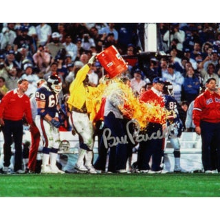 Bill Parcells Signed 1986 Giants Super Bowl Gatorade Celebration 8X10