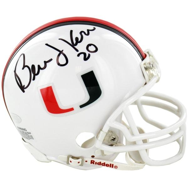 Bernie Kosar Signed University of Miami Replica Mini Helmet