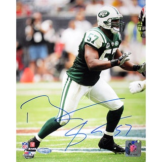 Bart Scott Jets Green Jersey Vertical 8x10 Photo