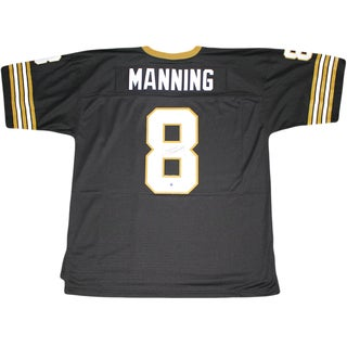Archie Manning Signed Replica 1979 Black New Orleans Saints Mitchell and Ness Jersey