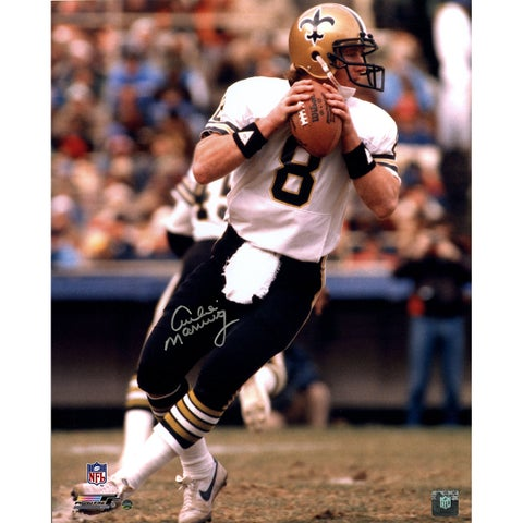 Archie Manning Signed New Orleans Saints White Jersey Vertical 16x20 Photo