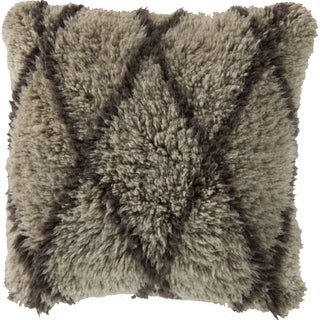 Decorative Lesh 22-inch Poly or Down Filled Pillow