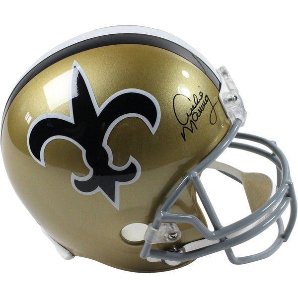 Archie Manning Signed New Orleans Saints Replica 67-75 Throwback Helmet