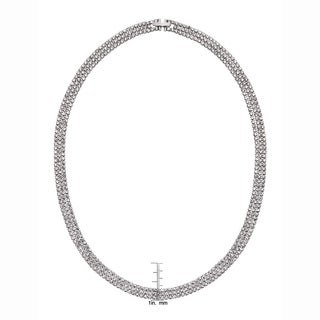Isla Simone - Crystal Three Row Necklace in Assorted Colors (Option: Black)
