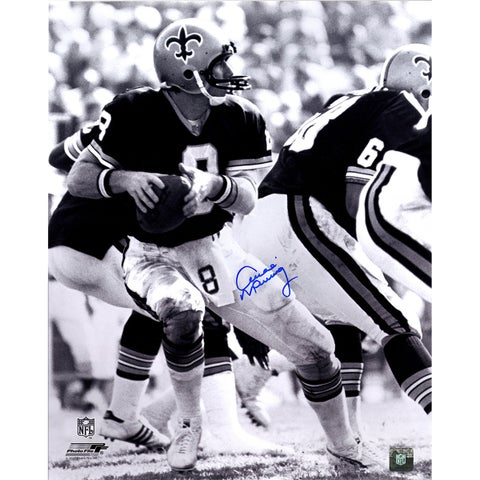 Archie Manning Signed New Orleans Saints B/W 16x20 photo