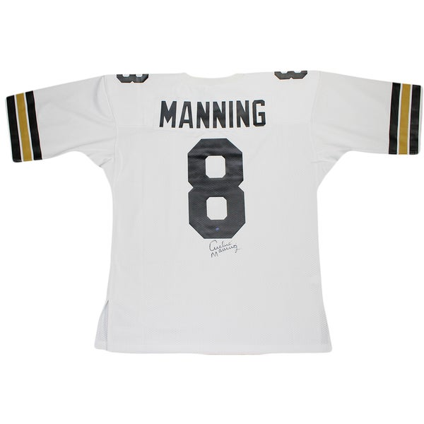Archie Manning Signed Authentic 1971 White New Orleans Saints Mitchell and Ness Jersey