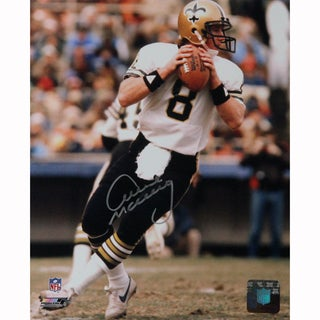 Archie Manning New Orleans Saints White Jersey Signed Vertical 8x10 Photo