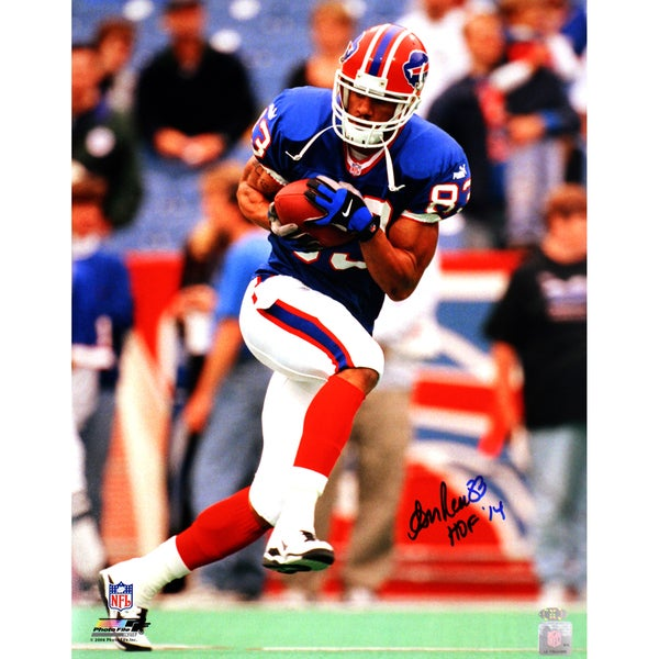 "Andre Reed Running with Ball Veritcal Bills 16x20 w/""HOF 14""Insc."