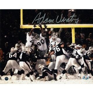 Adam Vinatieri Signed Snow Kick 8x10 Photo