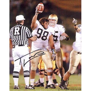 Trevor Laws Holding a Football 11x14 Photo