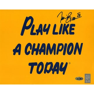 Tim Brown Signed Play Like a Champion 8x10 Photo