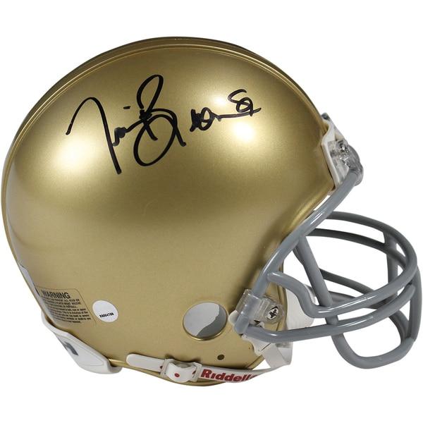 Tim Brown Signed Notre Dame Mini Helmet