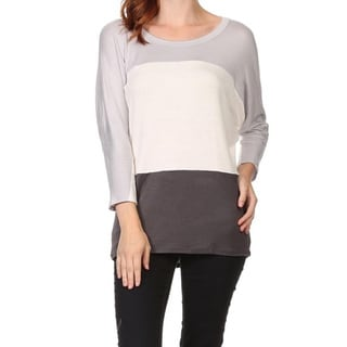 MOA Collection Women's Color-block Knit Top