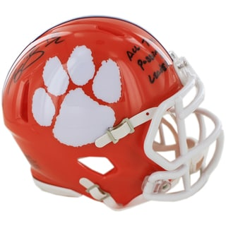"Tajh Boyd Signed Clemson Mini Helmet w/ ""All Time Passing Leader"" insc ( Fanatics Authentic)"