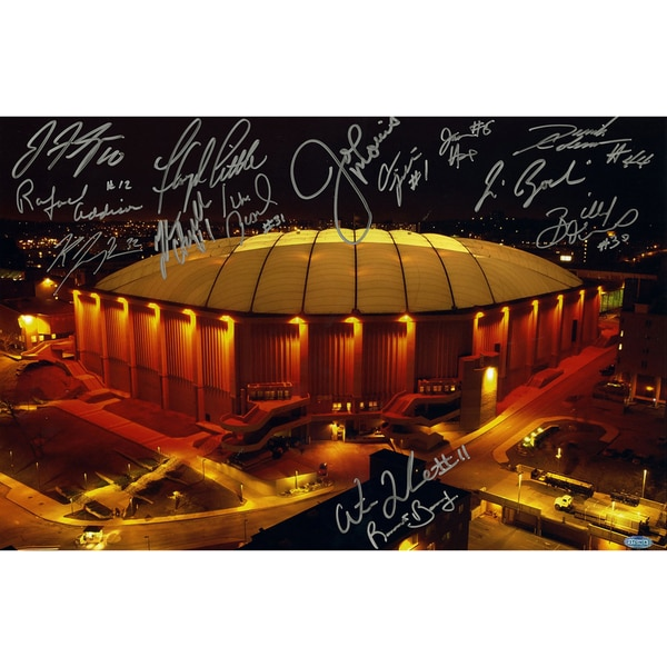 Syracuse Carrier Dome Multi Signed Horizontal 16x20 Photo (14 Sigs)