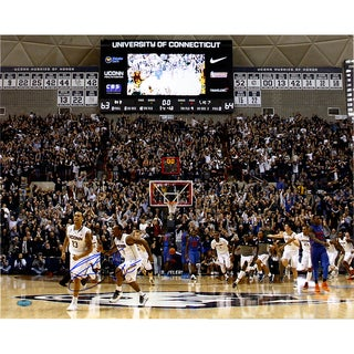 Shabazz Napier Signed Connecticut Huskies Buzzer Beater 16x20 Photo (Signed in Blue)