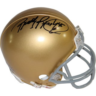 Rudy Ruettiger Signed Notre Dame Mini Helmet (Signed In Black)