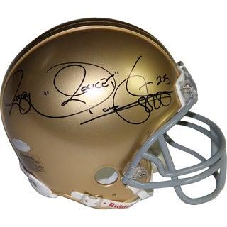 Rocket Ismail Signed Notre Dame mini Helmet