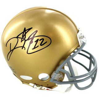 Ricky Watters Signed Notre Dame Mini Helmet - Black
