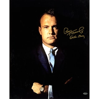 """Paul Hornung Signed w/ """"Golden Boy"""" inscrip. suit 16x20 Photo (Signed in gold)"""