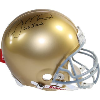 "Joe Montana Signed Notre Dame Full Size Authentic Helmet w/ ""Go Irish"" Insc."