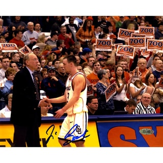 Jim Boeheim w/ Gerry Mcnamara Signed Horizontal 8x10 Photo